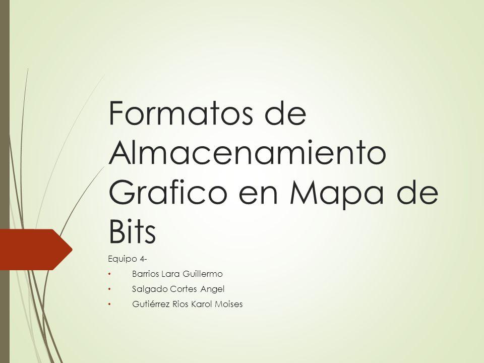 Formatos de Almacenamiento Grafico en Mapa de Bits