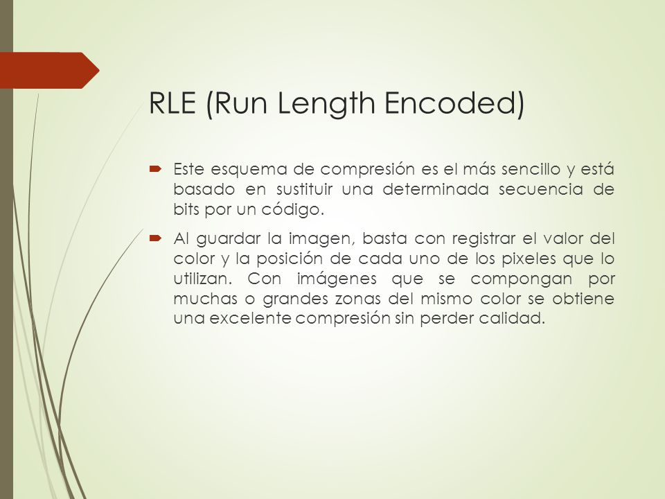 RLE (Run Length Encoded)