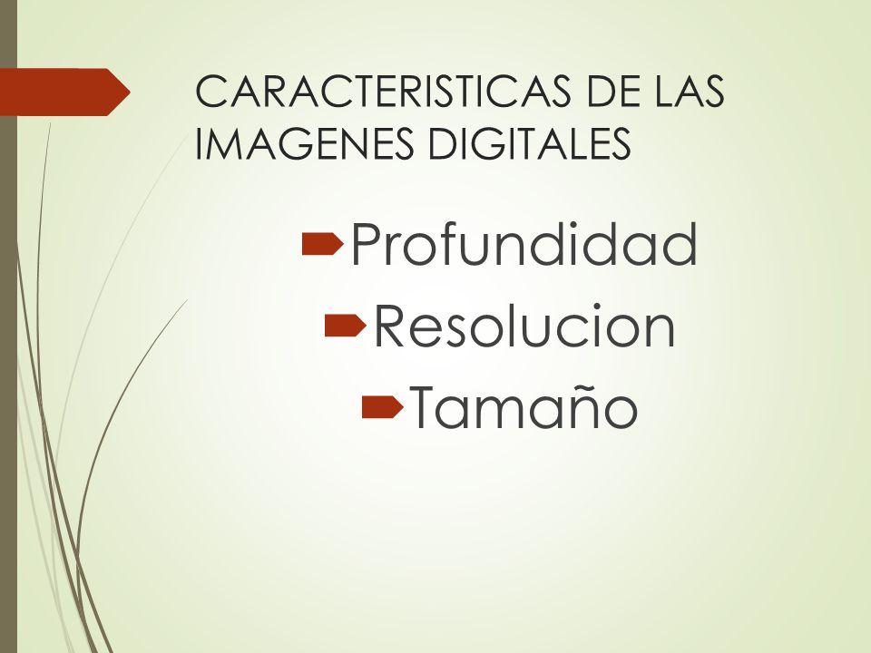 CARACTERISTICAS DE LAS IMAGENES DIGITALES