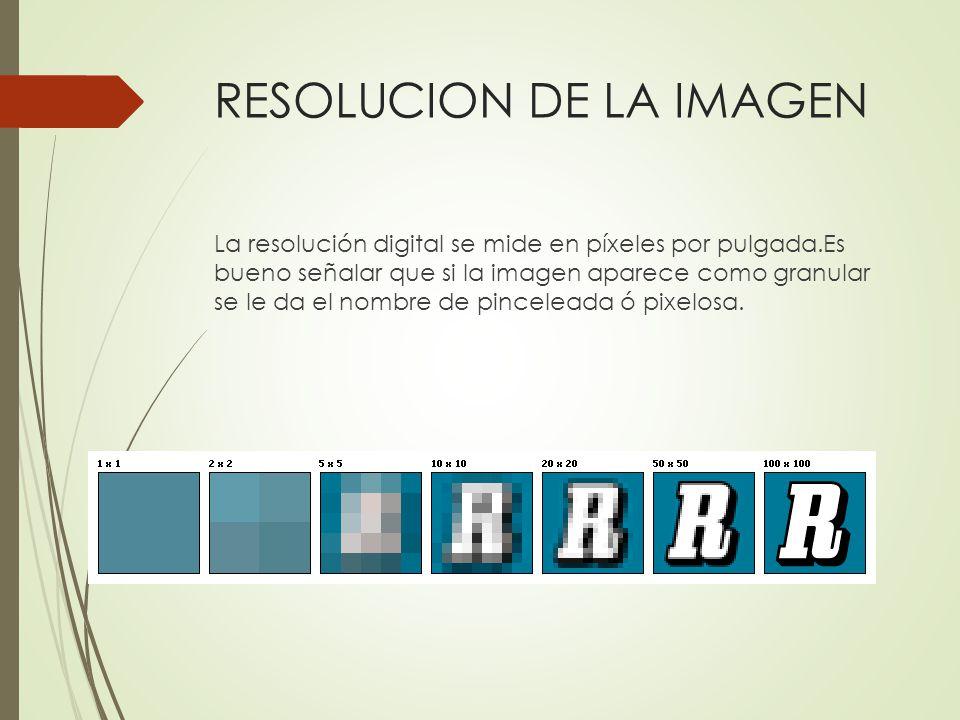 RESOLUCION DE LA IMAGEN