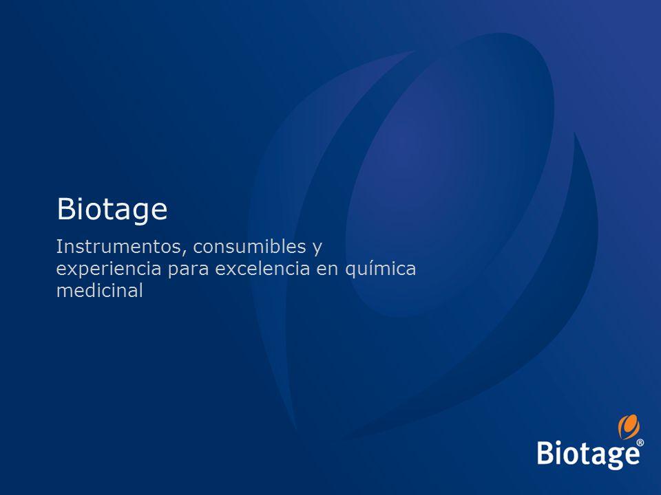 Biotage Instrumentos, consumibles y experiencia para excelencia en química medicinal
