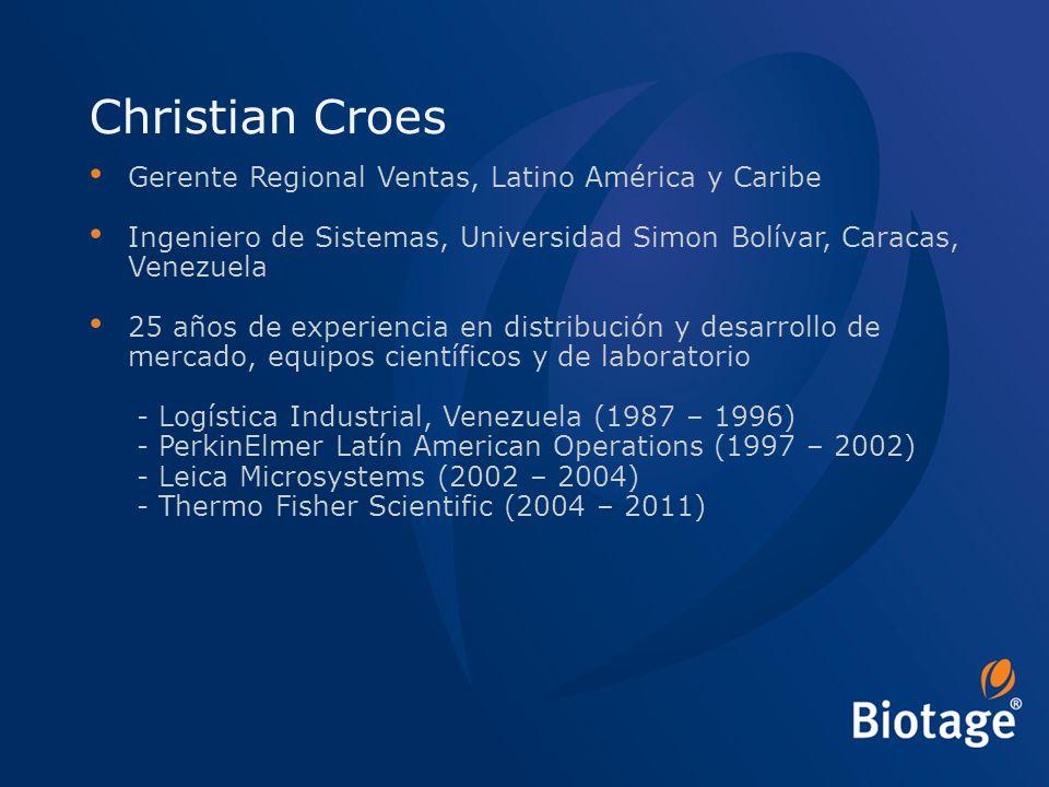 Christian Croes Gerente Regional Ventas, Latino América y Caribe