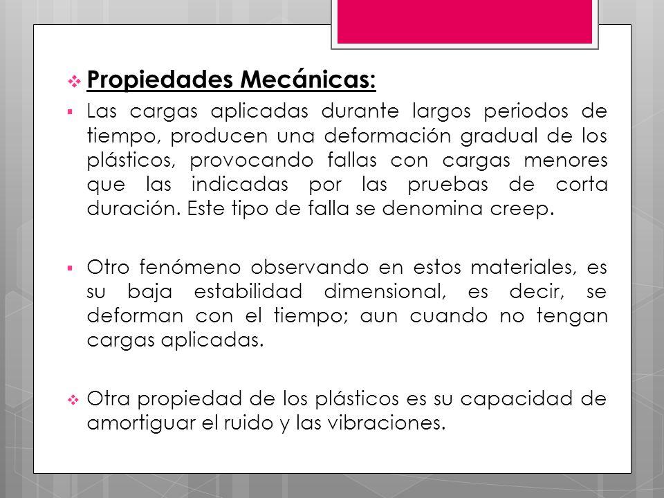 Propiedades Mecánicas: