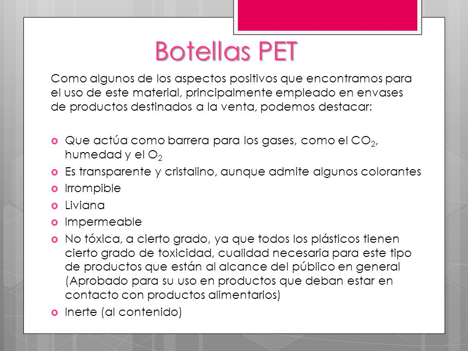 Botellas PET