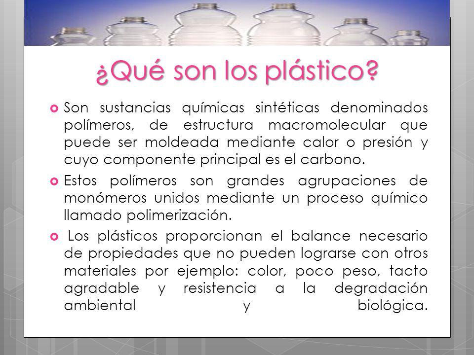 ¿Qué son los plástico
