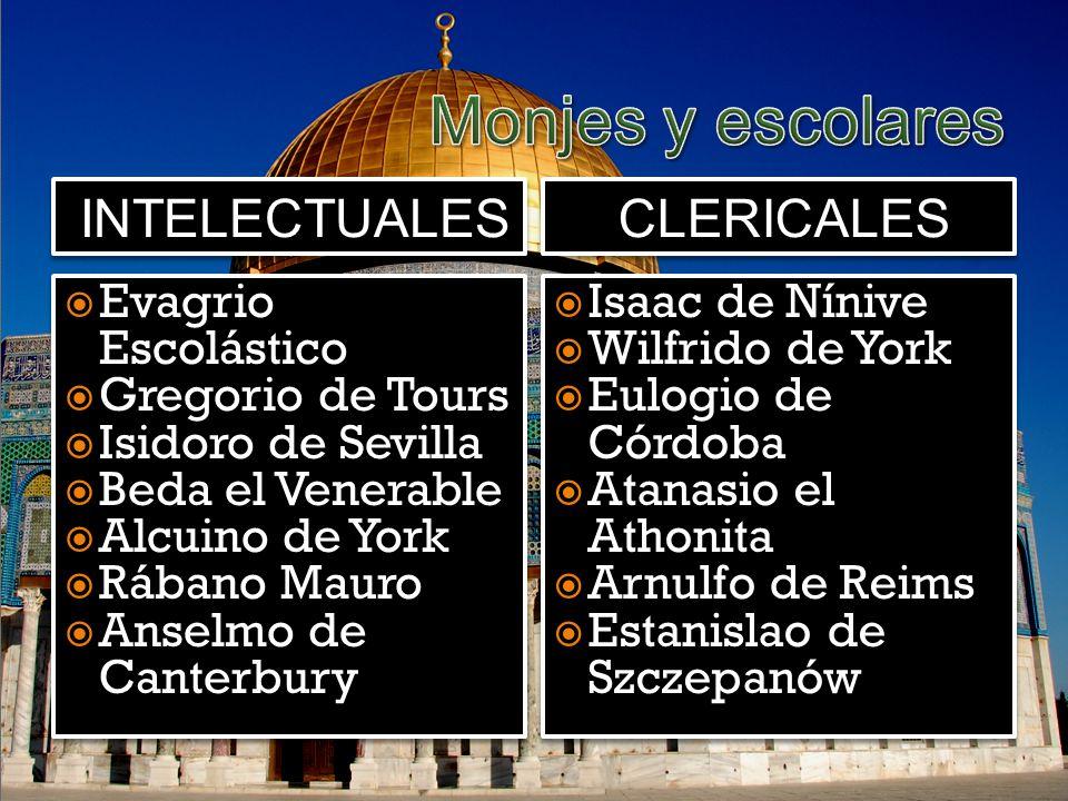 Monjes y escolares intelectuales clericales Evagrio Escolástico