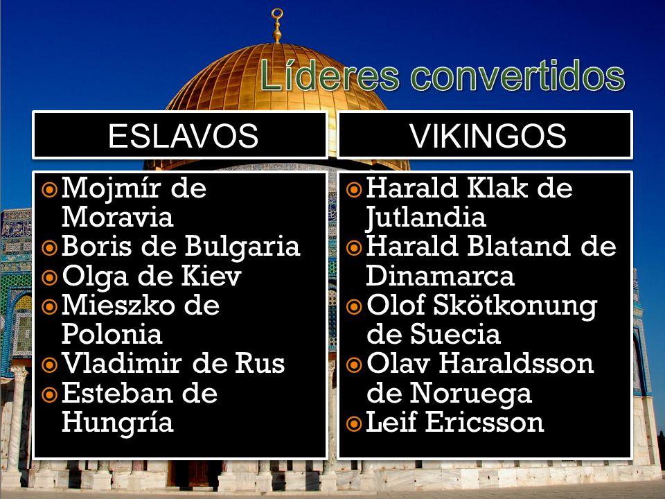 Líderes convertidos eslavos vikingos Mojmír de Moravia