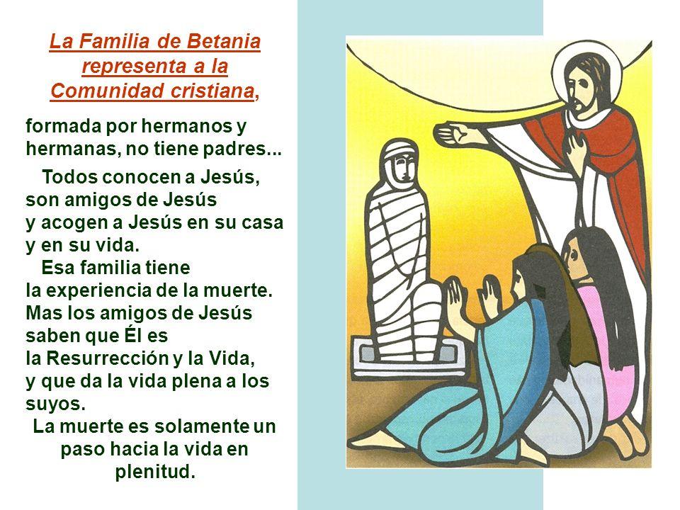 La Familia de Betania representa a la Comunidad cristiana,