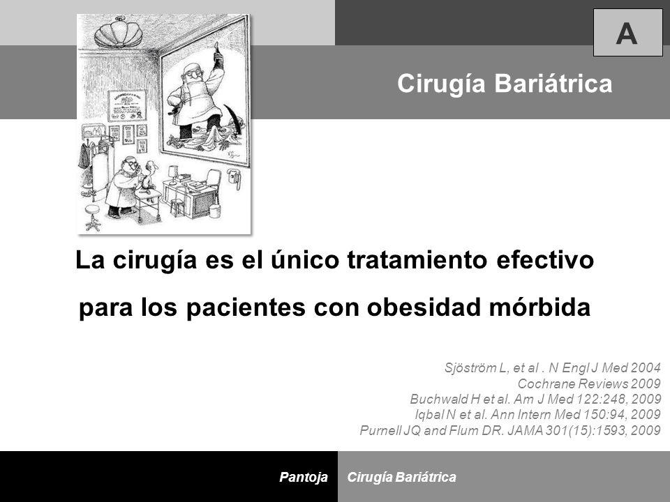 A Cirugía Bariátrica La cirugía es el único tratamiento efectivo