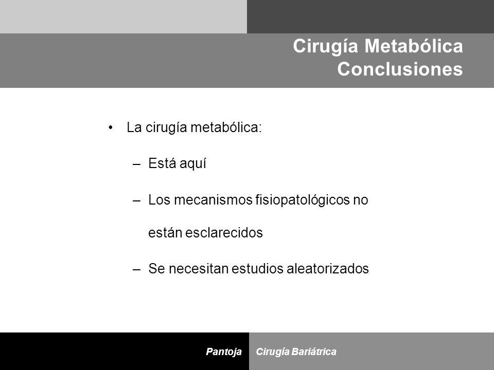 Cirugía Metabólica Conclusiones