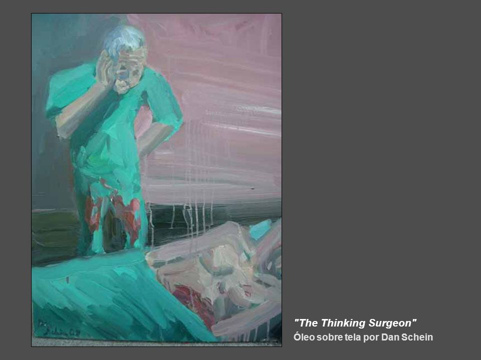 The Thinking Surgeon Óleo sobre tela por Dan Schein