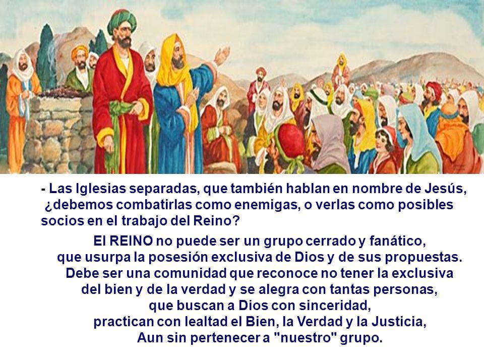- Las Iglesias separadas, que también hablan en nombre de Jesús,