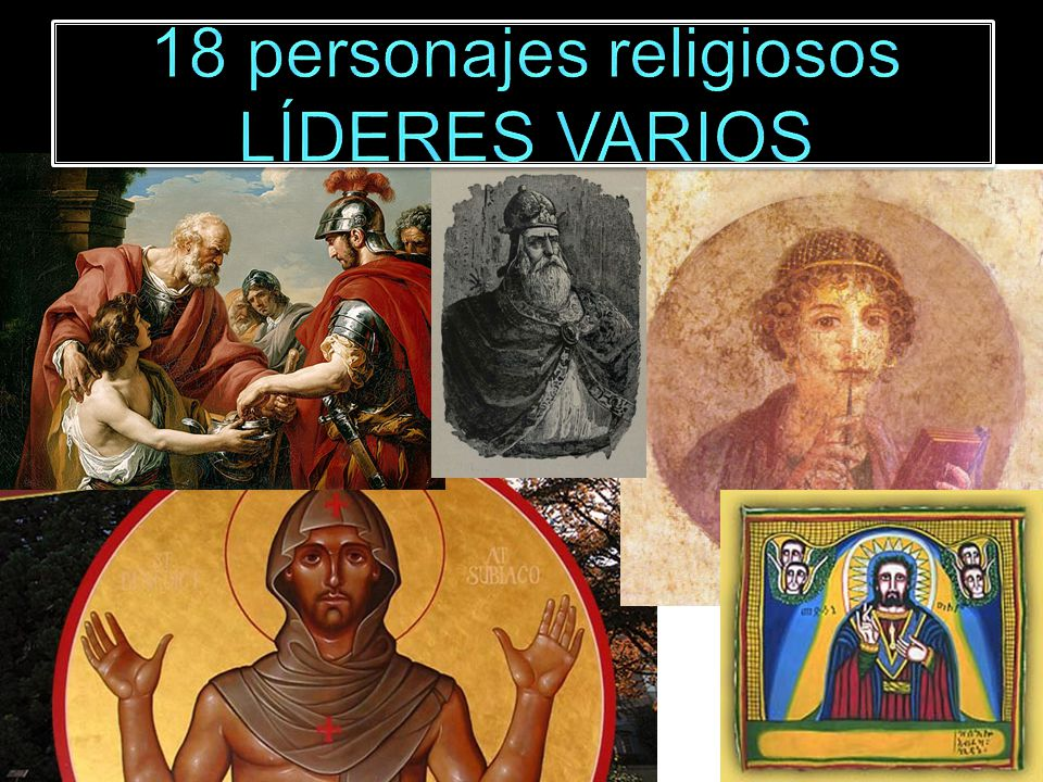 18 personajes religiosos LÍDERES VARIOS
