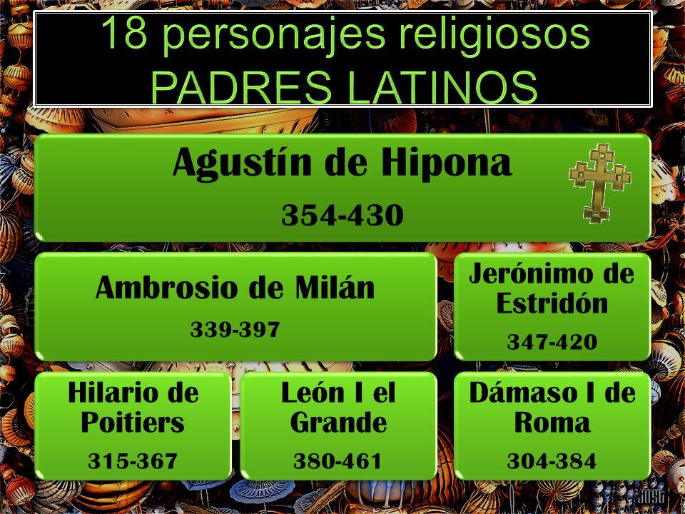 18 personajes religiosos PADRES LATINOS