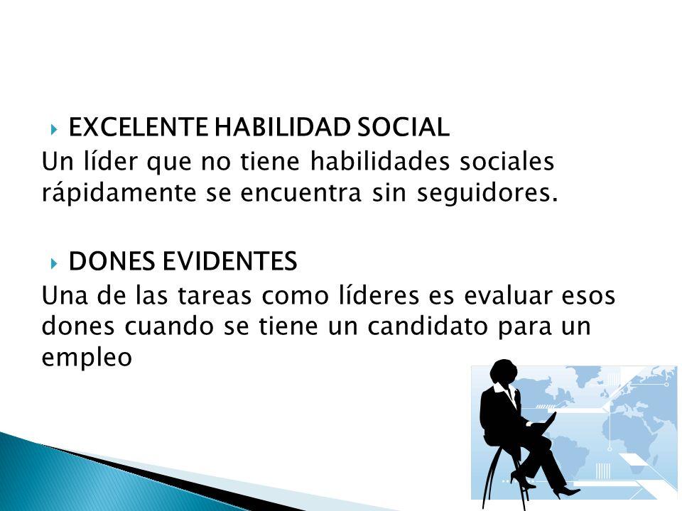 EXCELENTE HABILIDAD SOCIAL