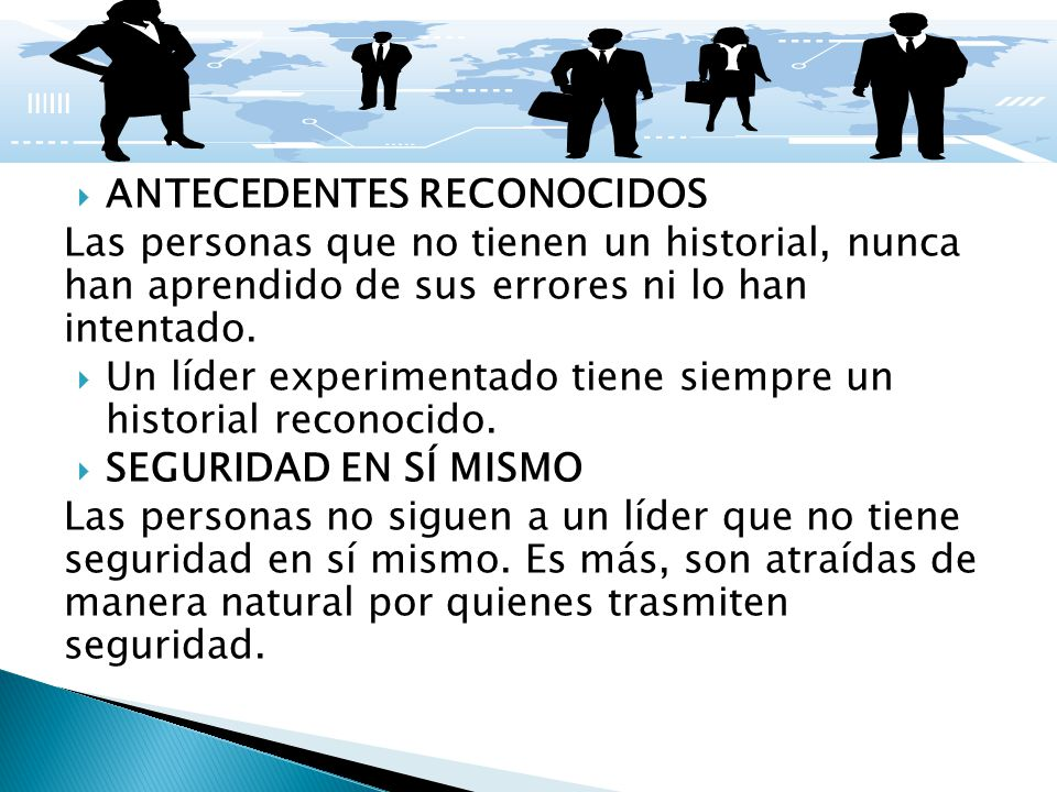 ANTECEDENTES RECONOCIDOS