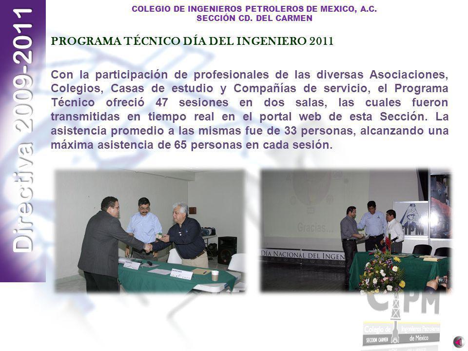 PROGRAMA TÉCNICO DÍA DEL INGENIERO 2011