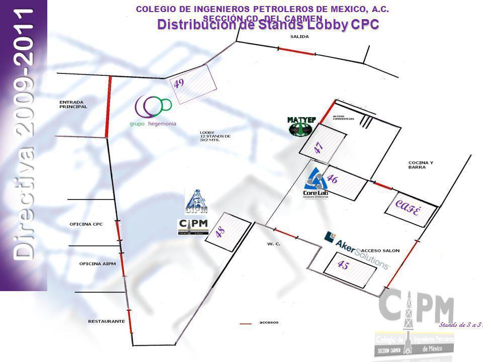 Distribución de Stands Lobby CPC