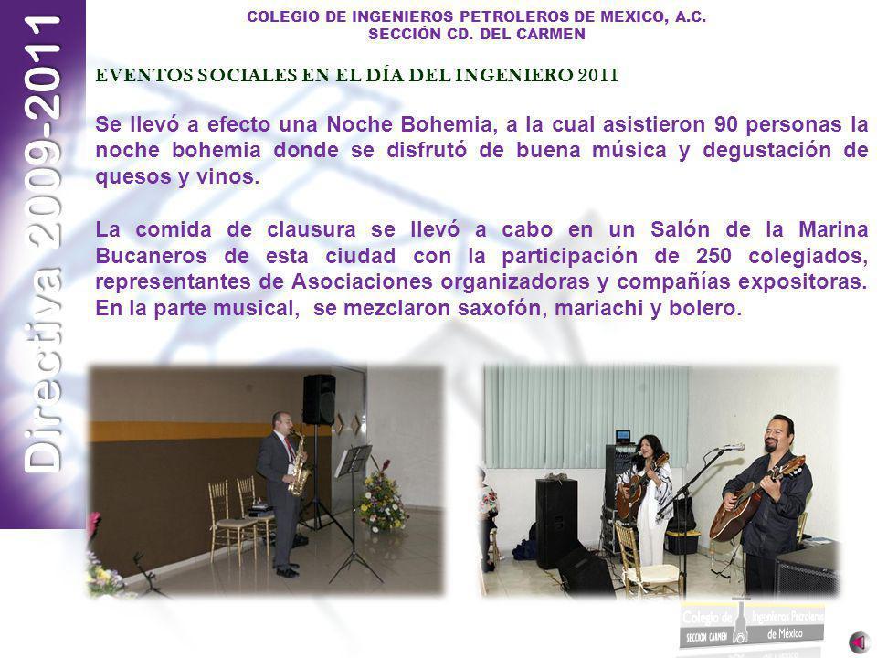 EVENTOS SOCIALES EN EL DÍA DEL INGENIERO 2011