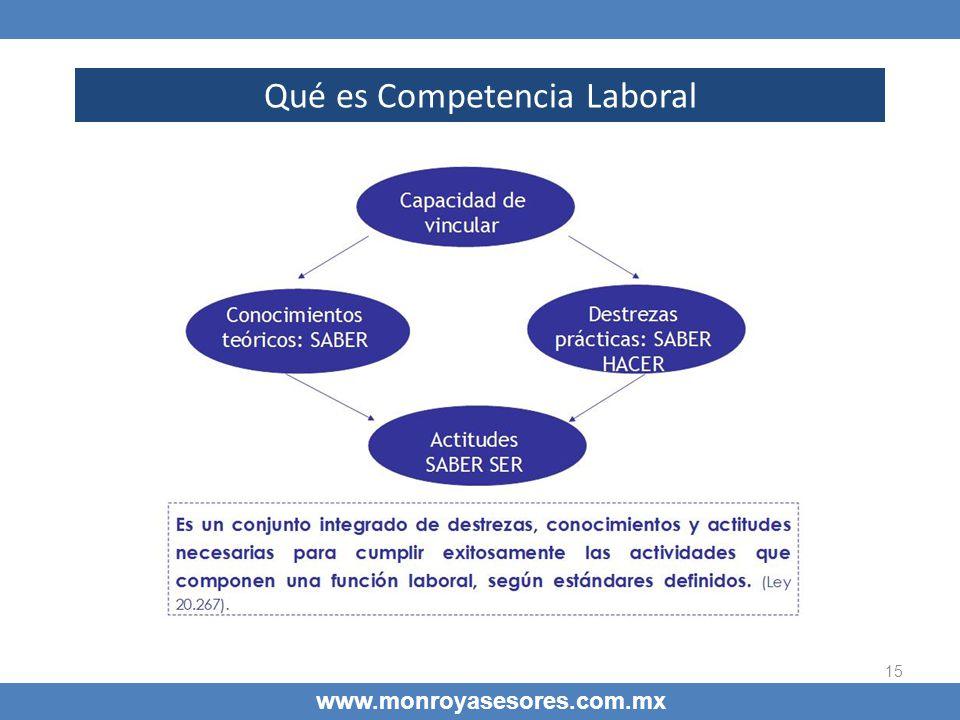 Qué es Competencia Laboral