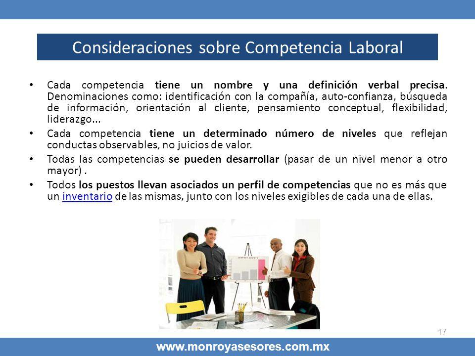 Consideraciones sobre Competencia Laboral