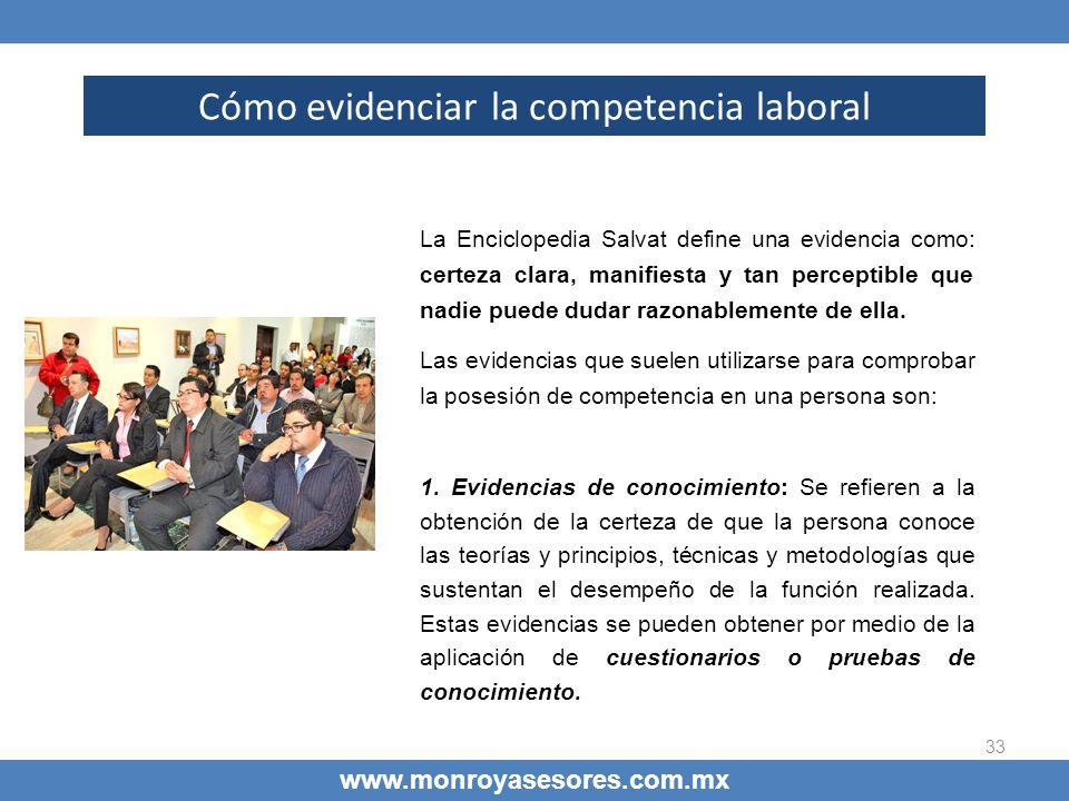 Cómo evidenciar la competencia laboral