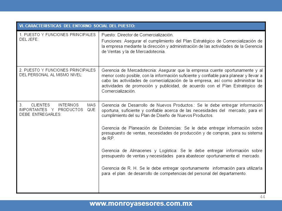 www.monroyasesores.com.mx Puesto: Director de Comercialización.