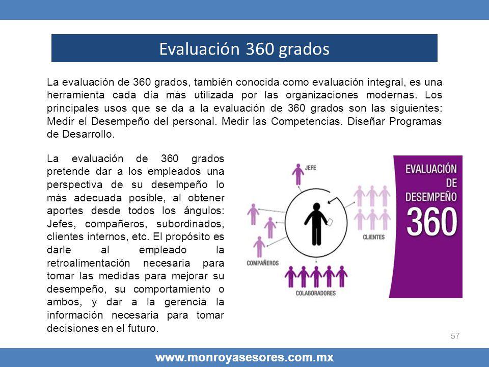 Evaluación 360 grados www.monroyasesores.com.mx