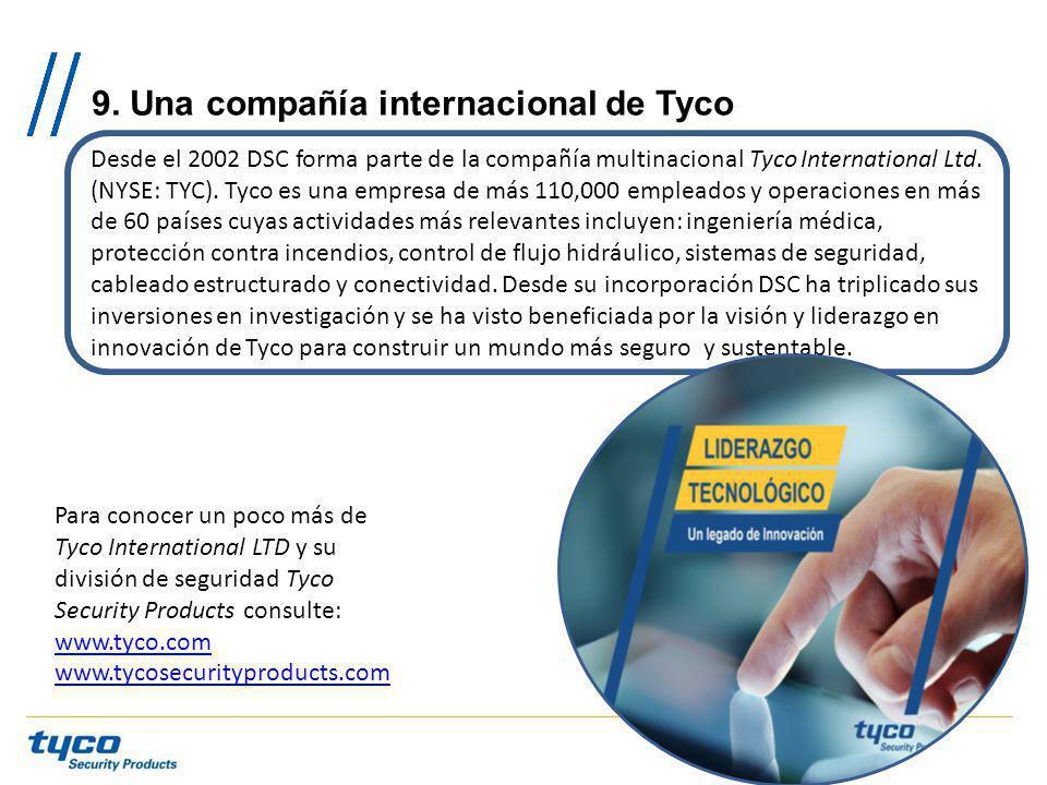 9. Una compañía internacional de Tyco