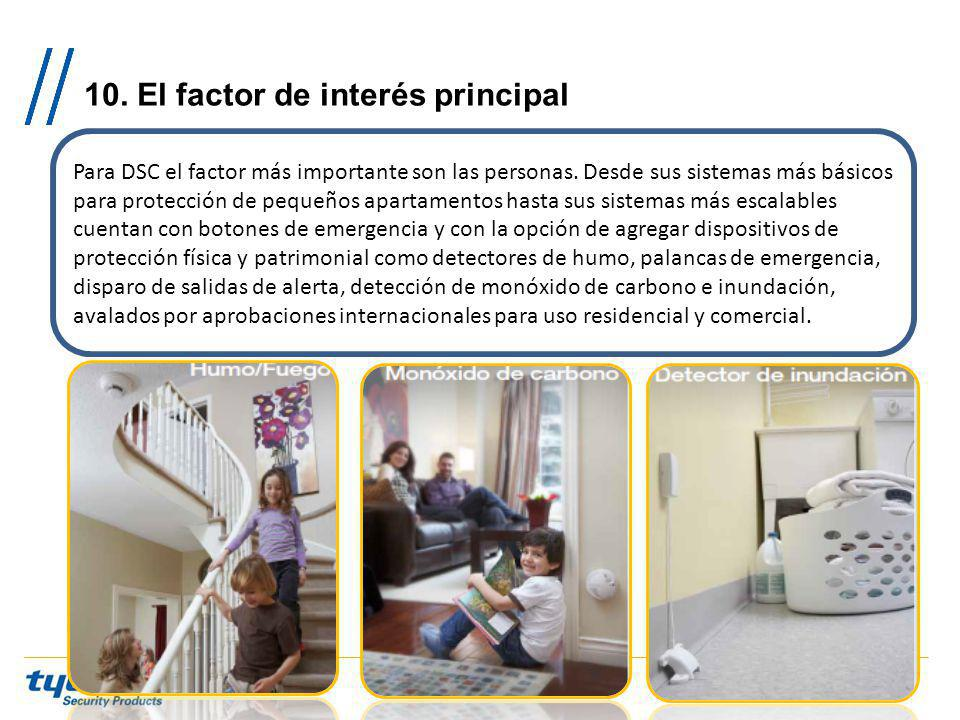 10. El factor de interés principal