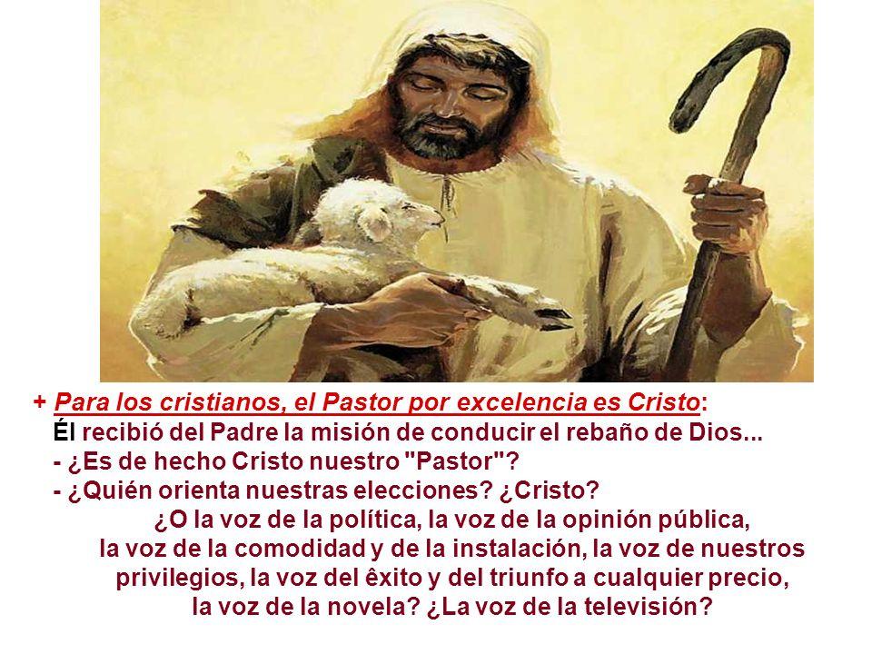 + Para los cristianos, el Pastor por excelencia es Cristo: