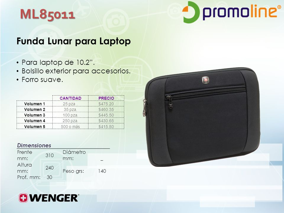 ML85011 Funda Lunar para Laptop Para laptop de 10.2 .