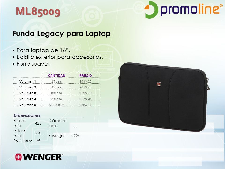 ML85009 Funda Legacy para Laptop Para laptop de 16 .