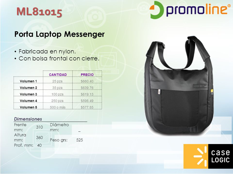 ML81015 Porta Laptop Messenger Fabricada en nylon.