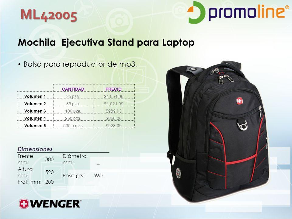 ML42005 Mochila Ejecutiva Stand para Laptop