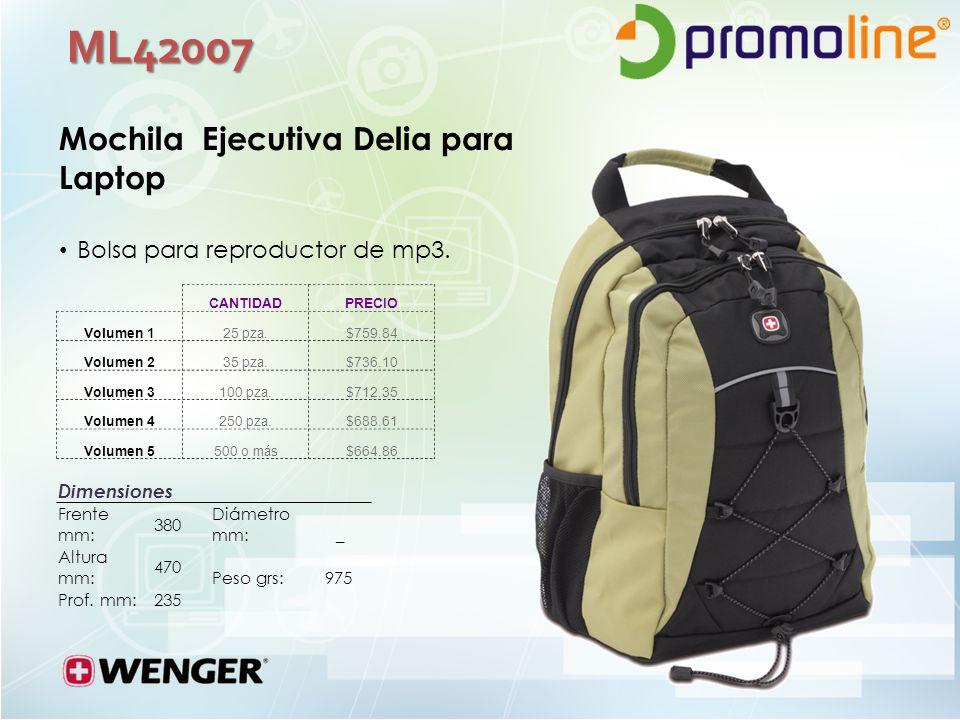 ML42007 Mochila Ejecutiva Delia para Laptop