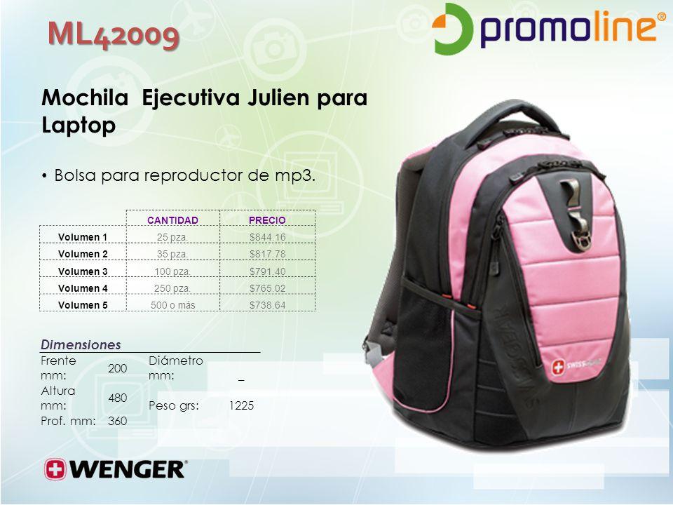 ML42009 Mochila Ejecutiva Julien para Laptop