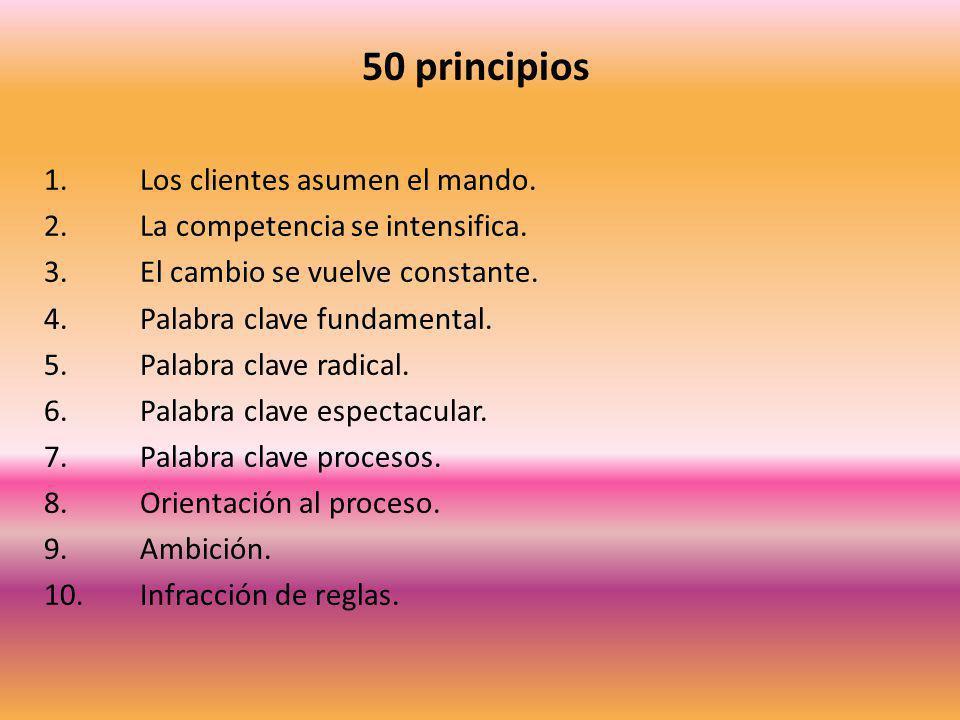 50 principios 1. Los clientes asumen el mando.