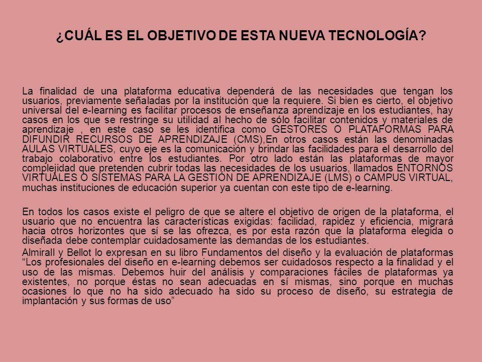 ¿CUÁL ES EL OBJETIVO DE ESTA NUEVA TECNOLOGÍA