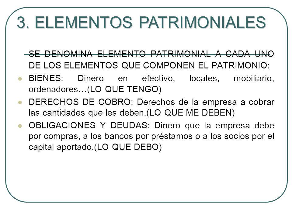 3. ELEMENTOS PATRIMONIALES