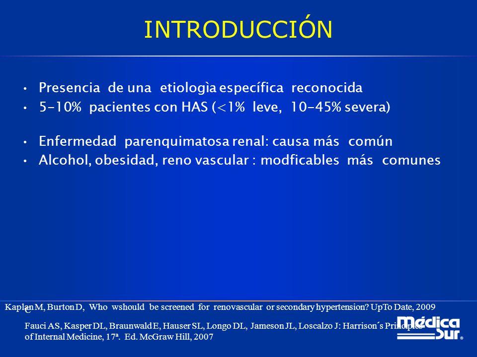 INTRODUCCIÓN Presencia de una etiologìa específica reconocida