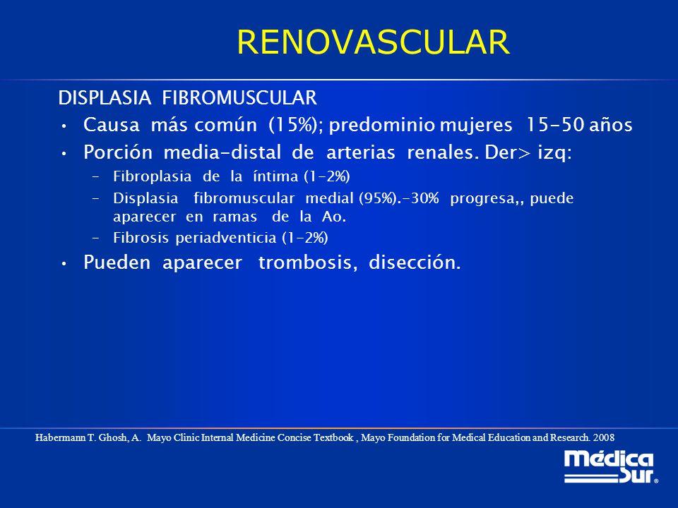 RENOVASCULAR DISPLASIA FIBROMUSCULAR