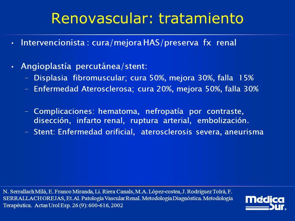 Renovascular: tratamiento