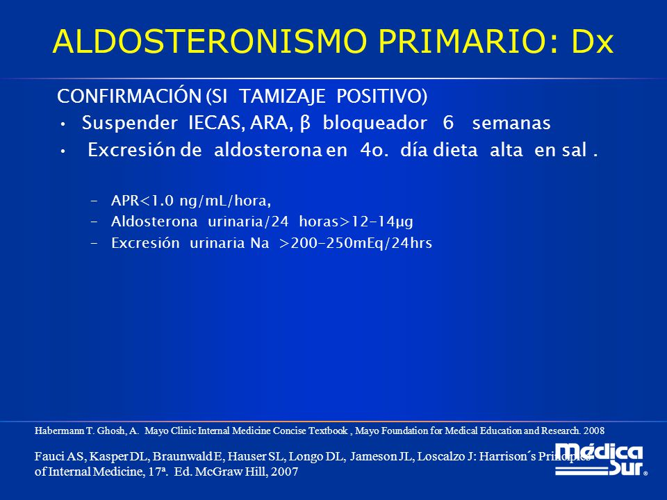 ALDOSTERONISMO PRIMARIO: Dx