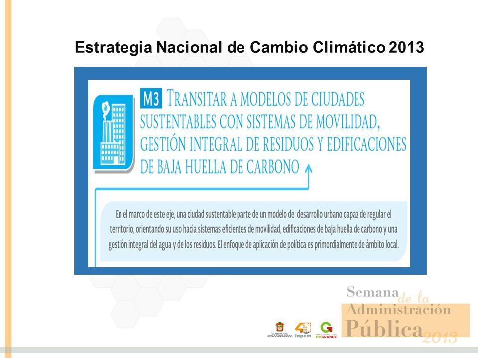 Estrategia Nacional de Cambio Climático 2013
