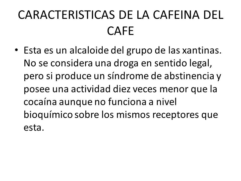 CARACTERISTICAS DE LA CAFEINA DEL CAFE