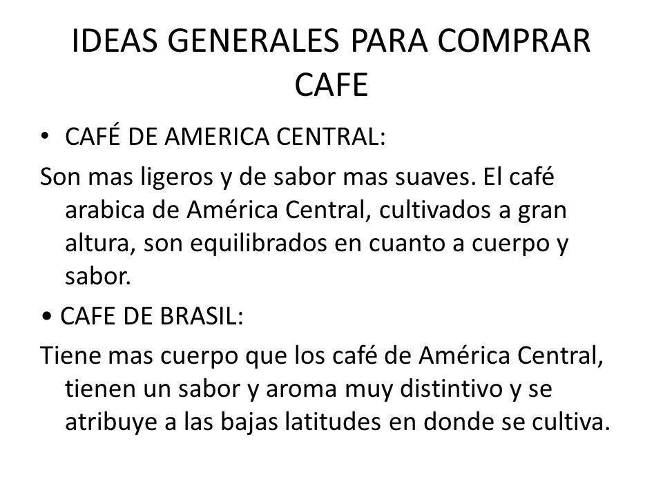 IDEAS GENERALES PARA COMPRAR CAFE