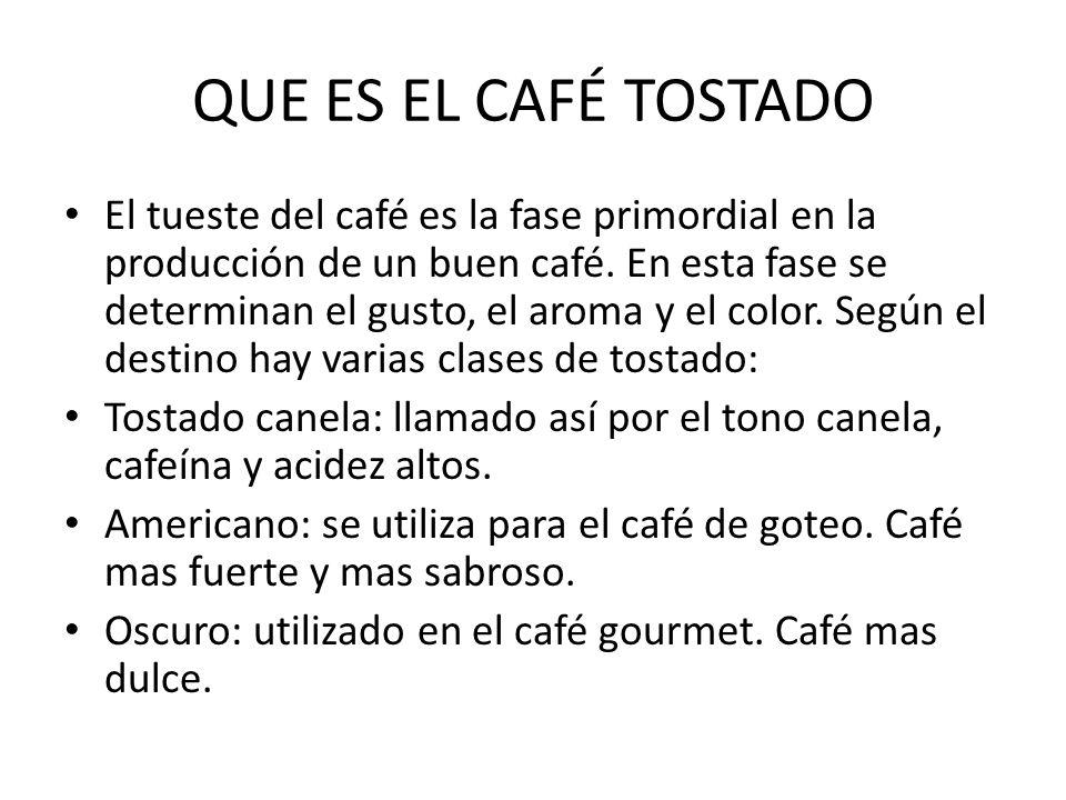 QUE ES EL CAFÉ TOSTADO