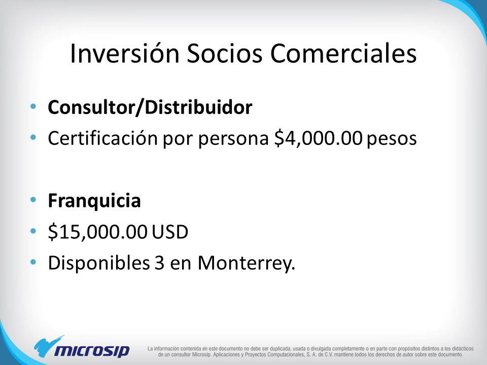Inversión Socios Comerciales