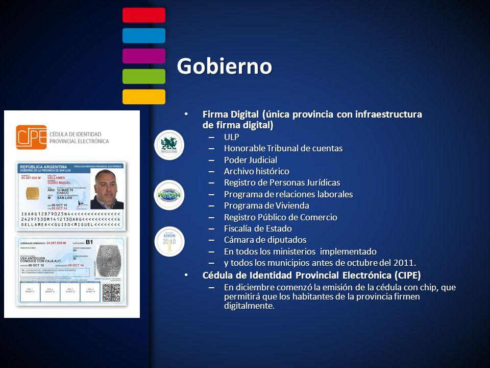 Gobierno Firma Digital (única provincia con infraestructura de firma digital) ULP. Honorable Tribunal de cuentas.